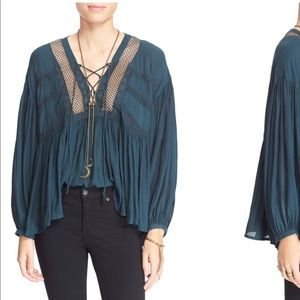 Free People Don't Let It Go Peasant Top NWT